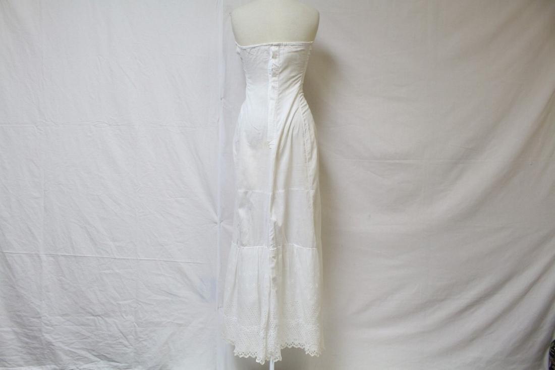 Antique Strapless Cotton Slip - 7