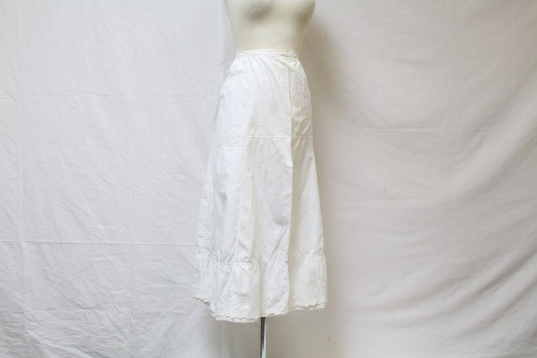 Antique White Cotton Petticoat