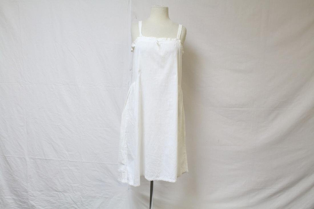 Vintage 1920s White Cotton Nightgown