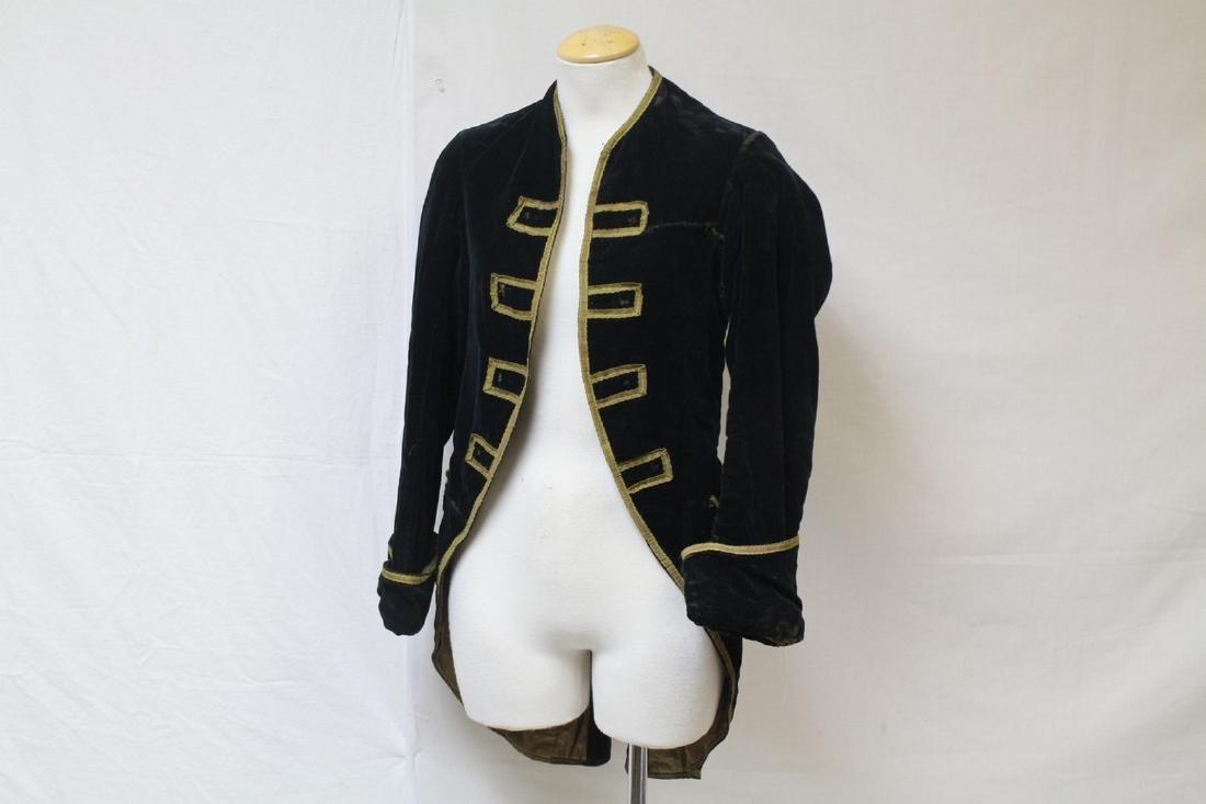 Antique Men's Velvet Tailcoat
