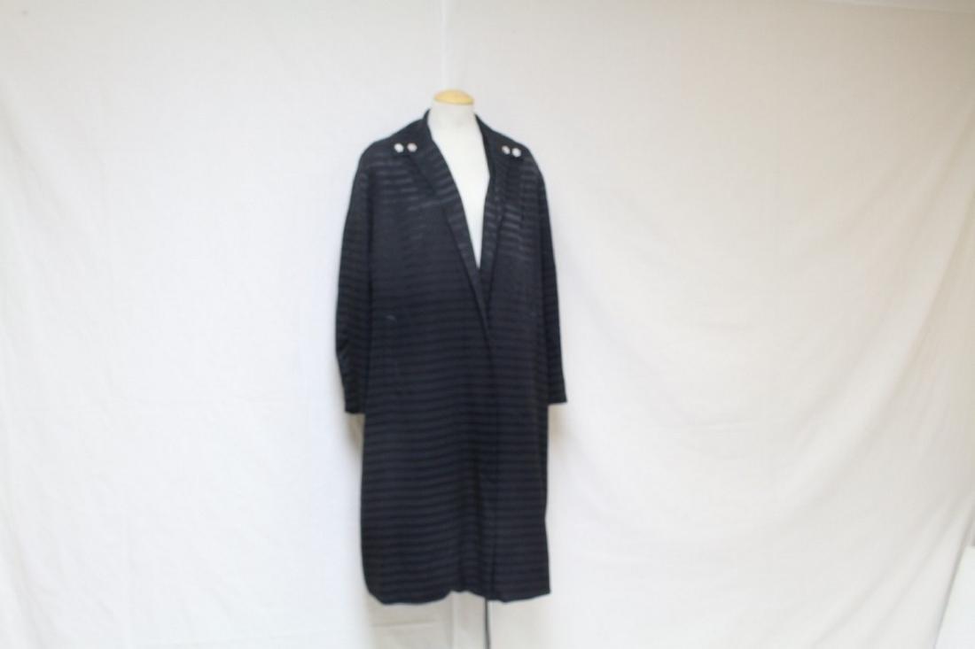 Vintage 1960s Black Striped Swing Coat