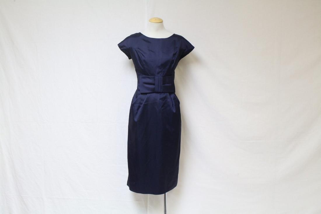 Vintage 1960s Navy Blue Dress
