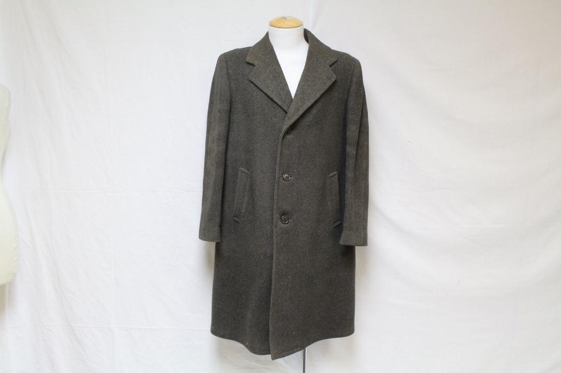 Vintage 1960s Men's Brown Wool Coat