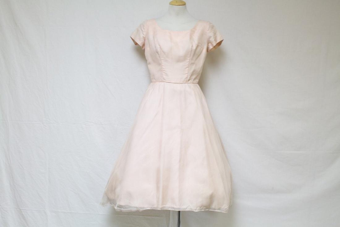 Vintage 1960s Pale Pink Organza Dress