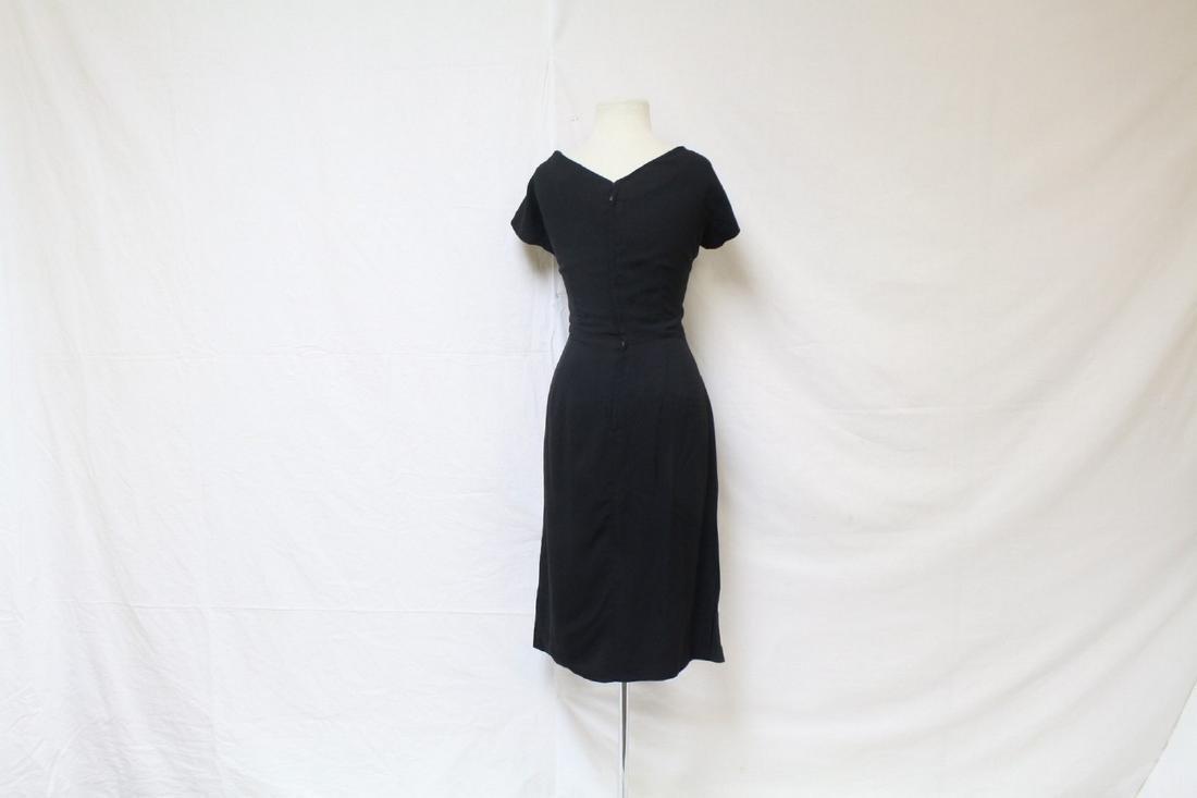 Vintage 1950s Gothe Black Cocktail Dress - 4