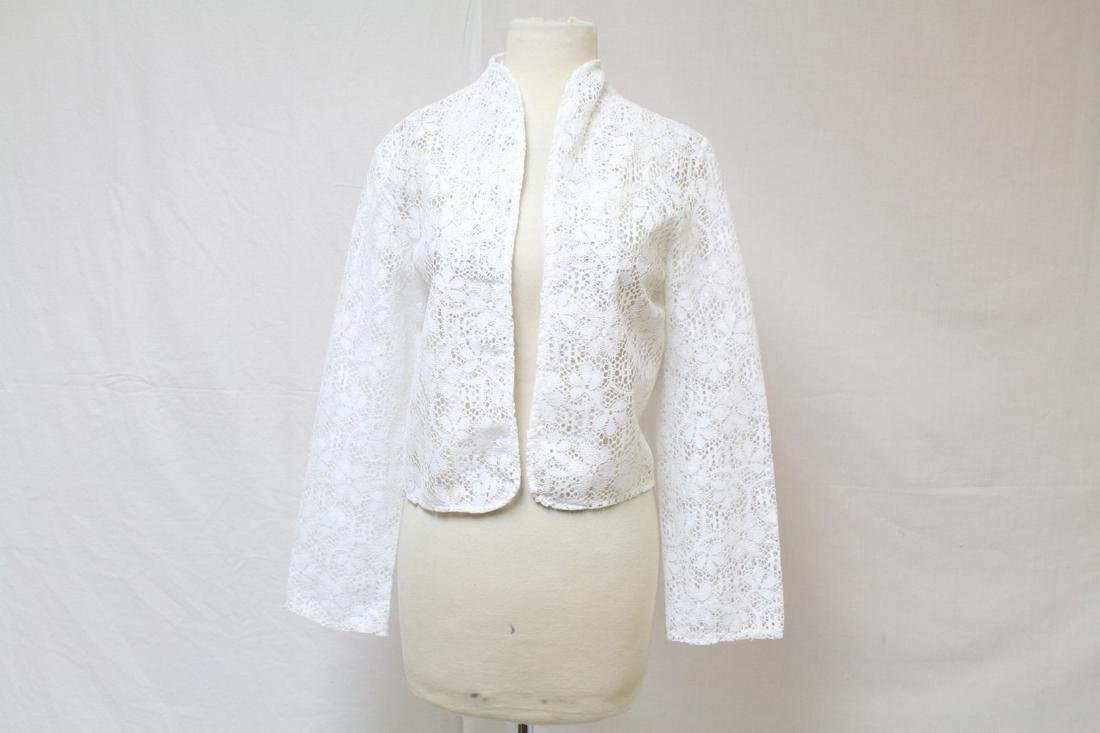 Vintage 1970s White Lace Bolero Jacket