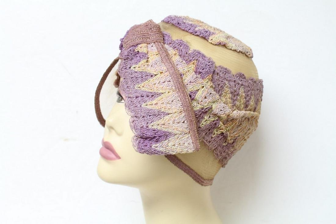 Vintage 1920s Embroidered Cloche Hat