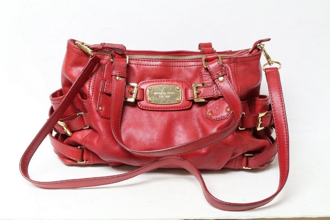 Modern Michael Kors Red Leather Handbag