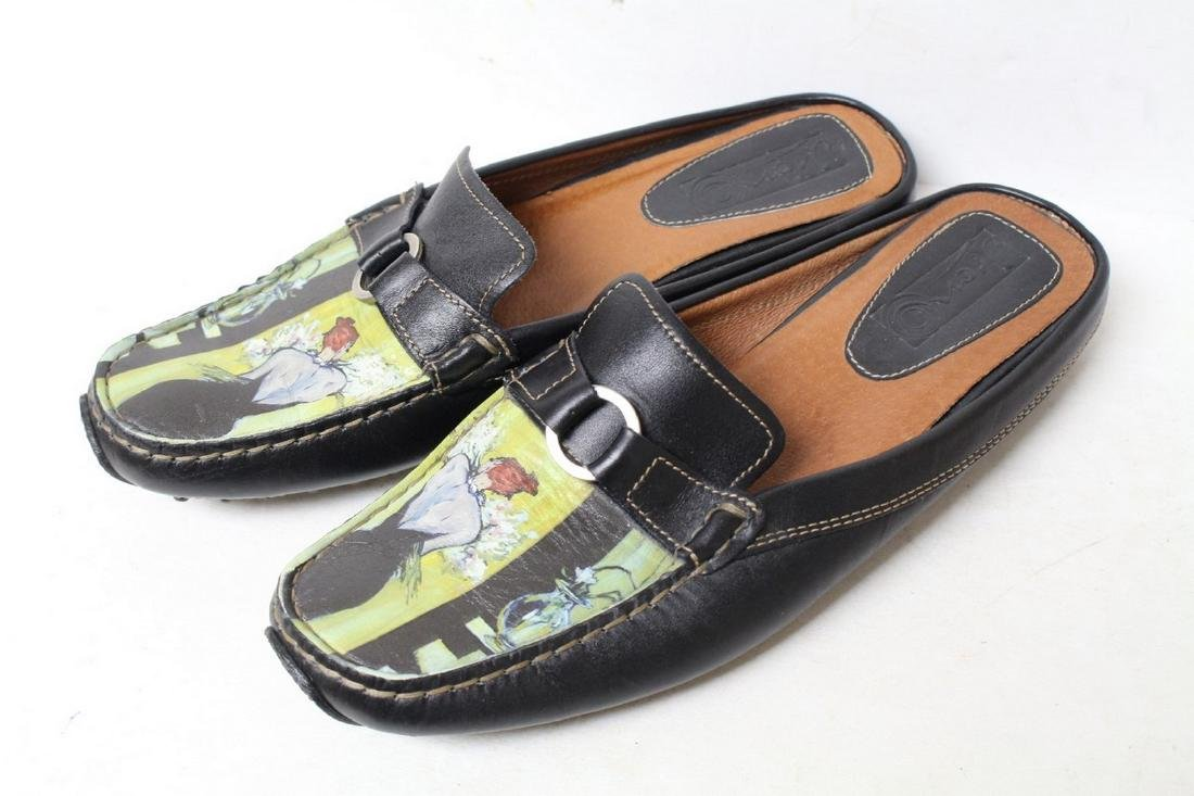 Modern Icon Art Leather Loafers