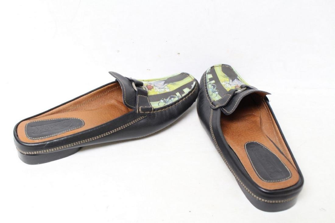 Modern Icon Art Leather Loafers - 3