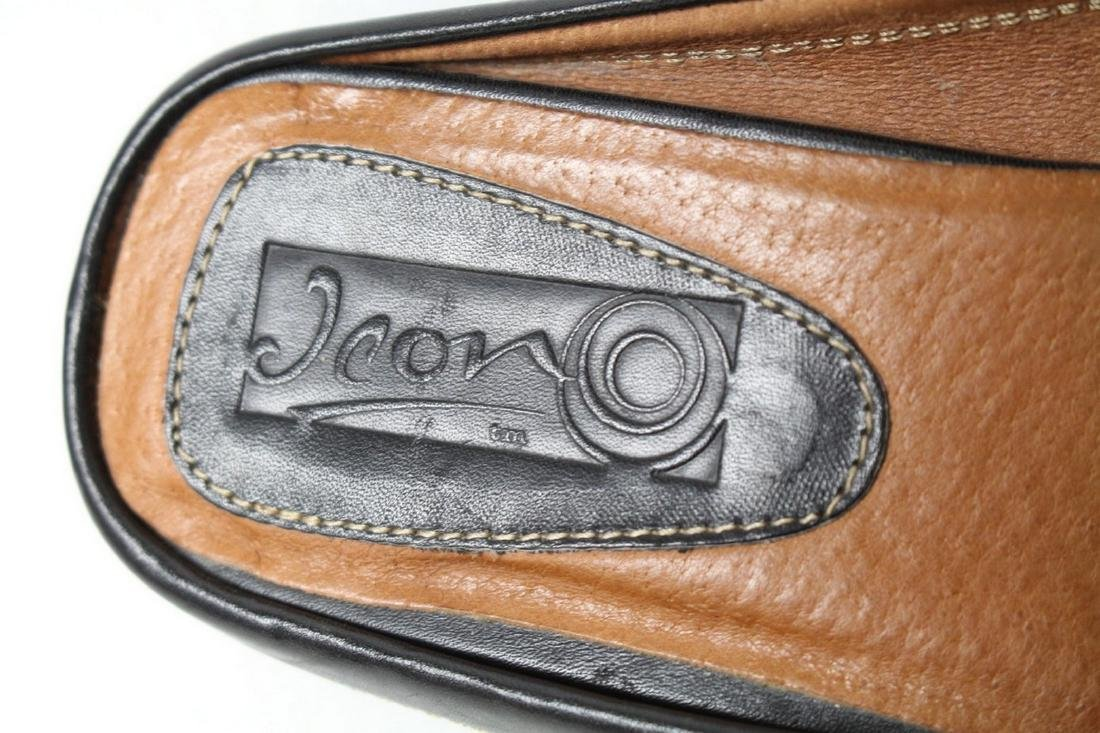 Modern Icon Art Leather Loafers - 4