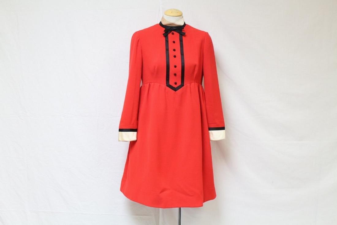 Vintage 1960s Geoffrey Beene Wool Dress