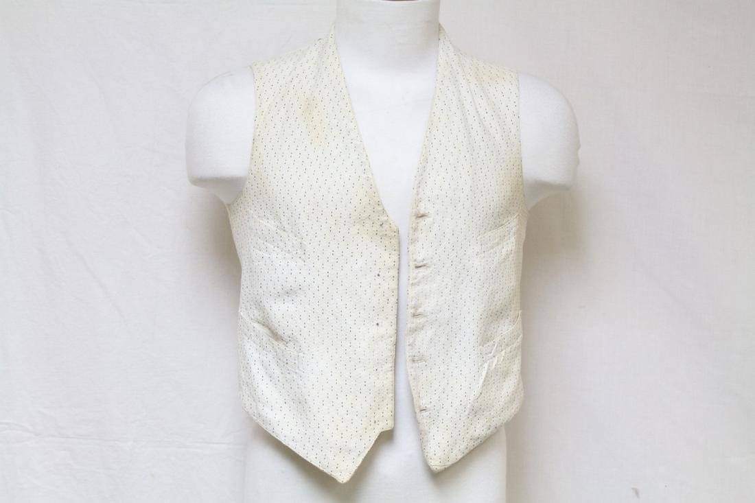 Early Men's White Cotton Vest