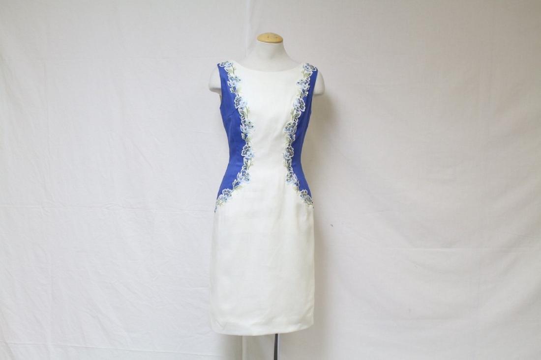Vintage 1950s Charles Warner Floral Sheath Dress