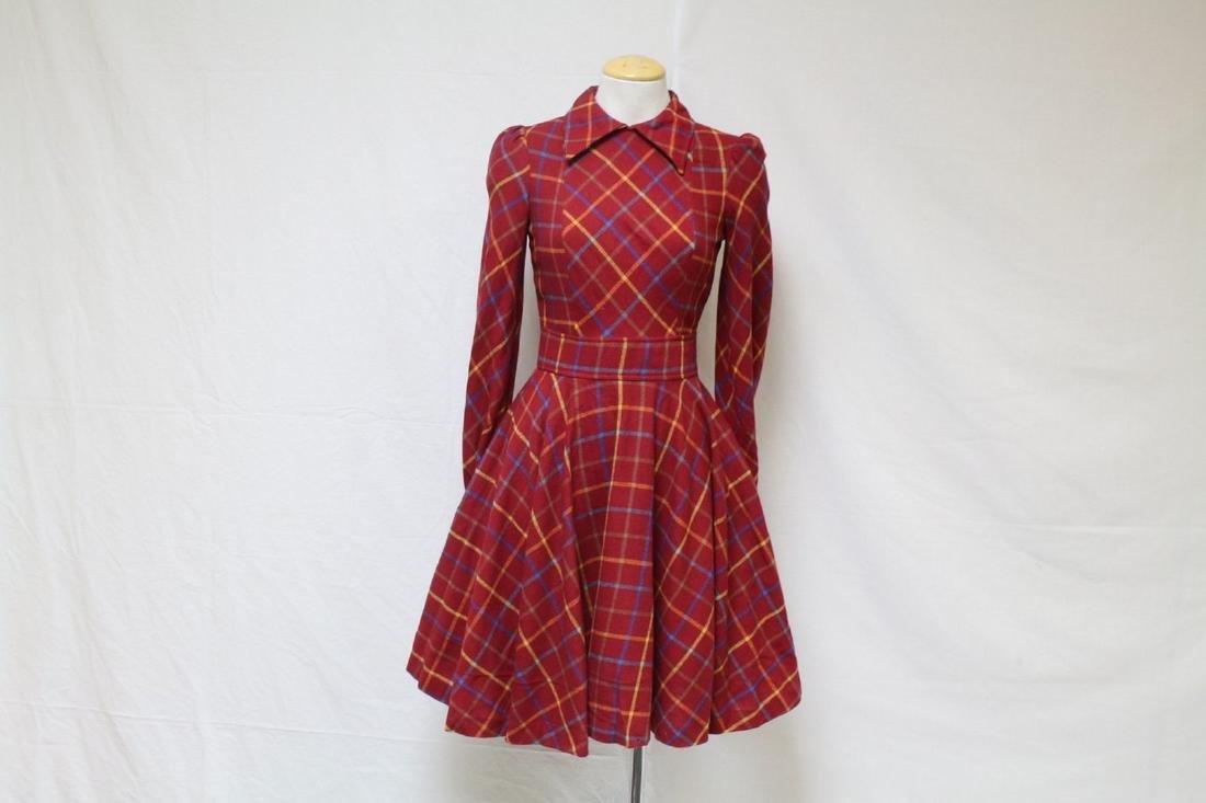 Vintage 1960s Daniel Hechter Paris Wool Dress