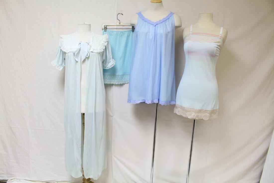 Vintage 1960s Lot of Blue Lingerie