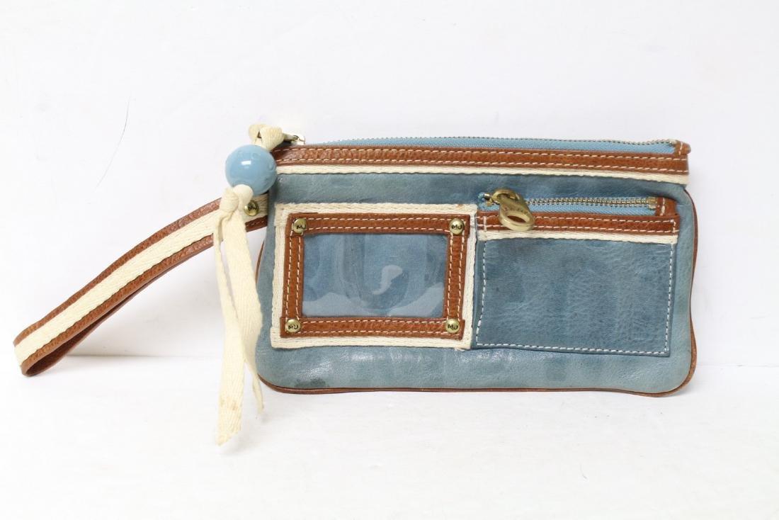 Modern Marc Jacobs Blue Leather Wristlet