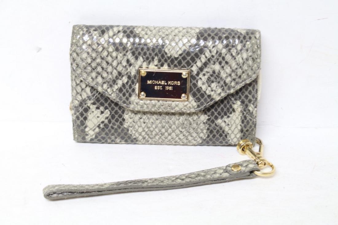 Modern Michael Kors Snakeskin Wristlet Wallet