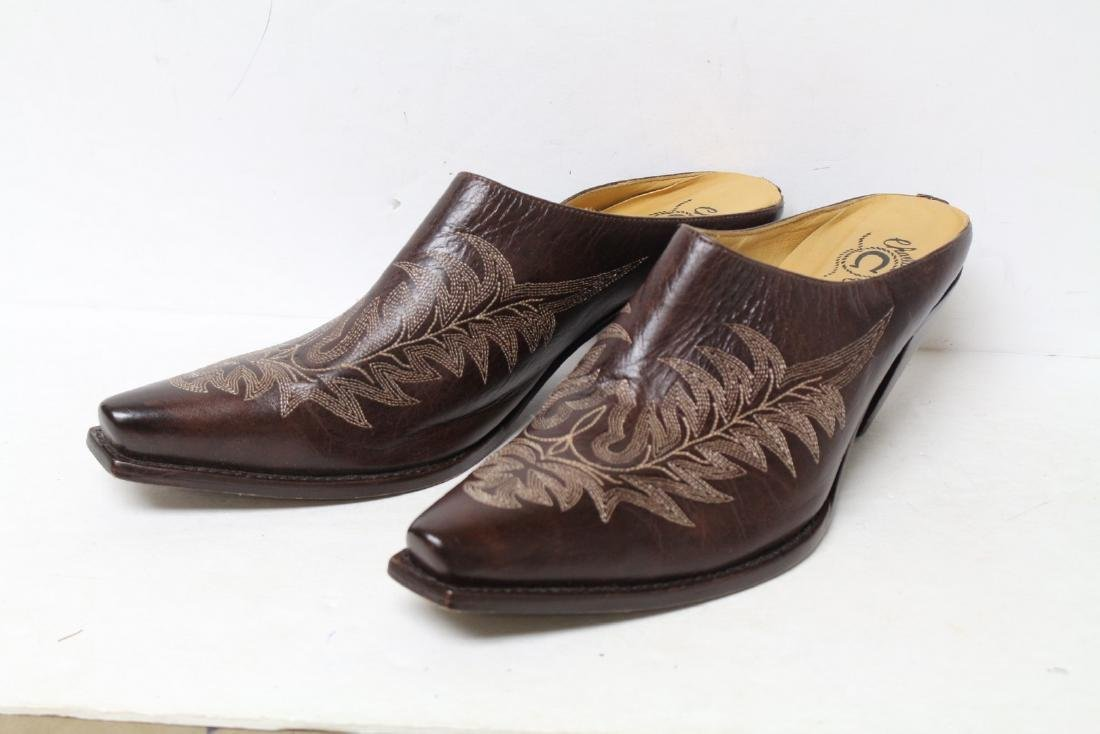 Modern Charlie Horse Leather Mules