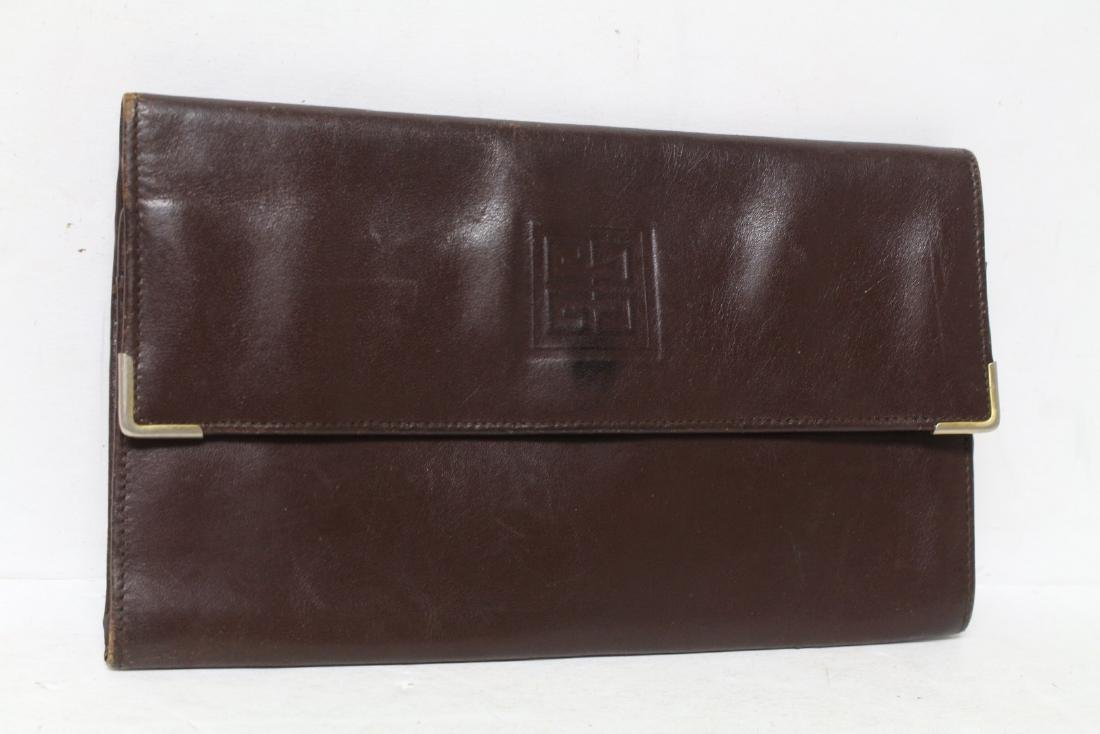 Vintage 1980s Givenchy Brown Leather Wallet