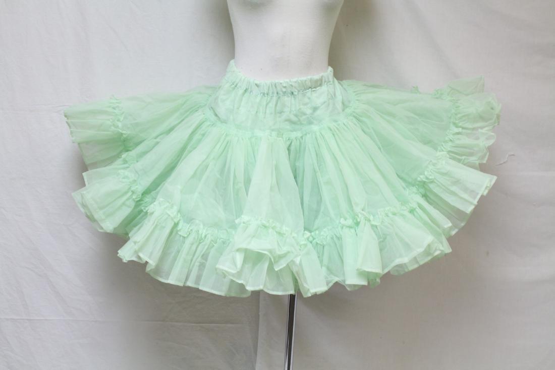 Vintage 1960s Green Crinoline