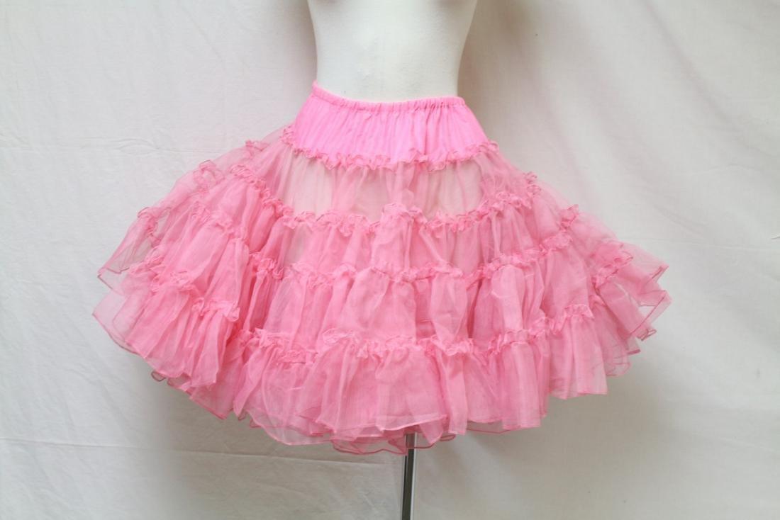 Vintage 1960s Hot Pink Crinoline