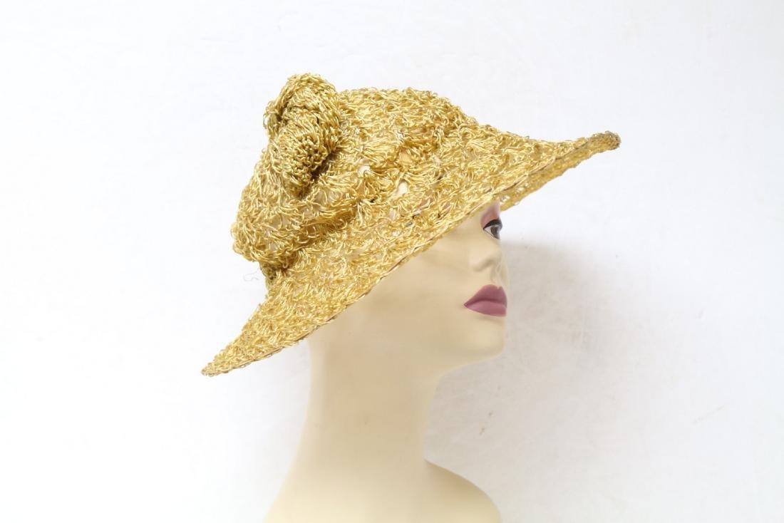 Vintage 1940s Straw Sun Hat