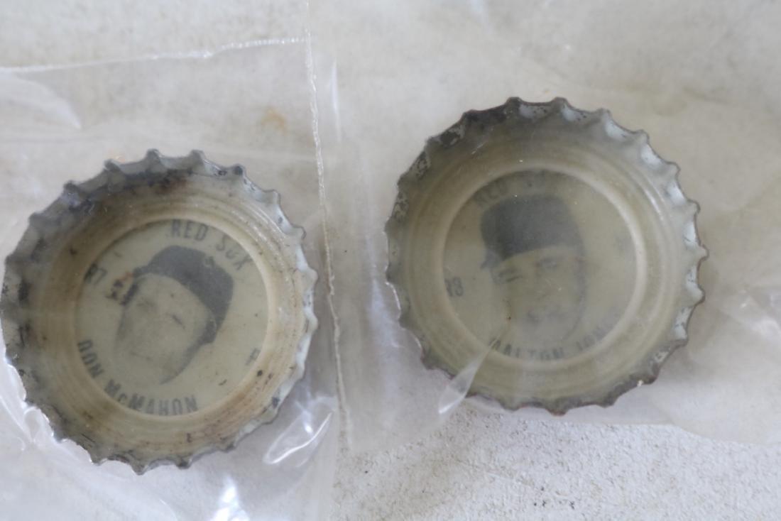 Vintage Coke Baseball Bottle Caps, Red Sox & All Star - 5