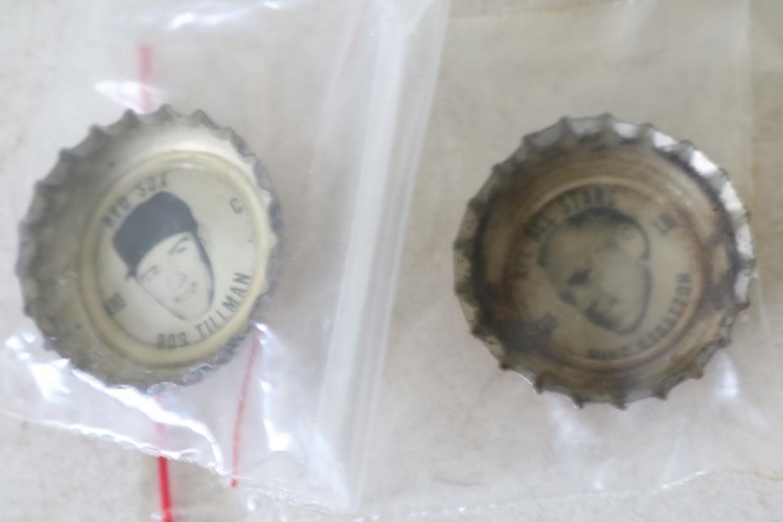 Vintage Coke Baseball Bottle Caps, Red Sox & All Star - 6