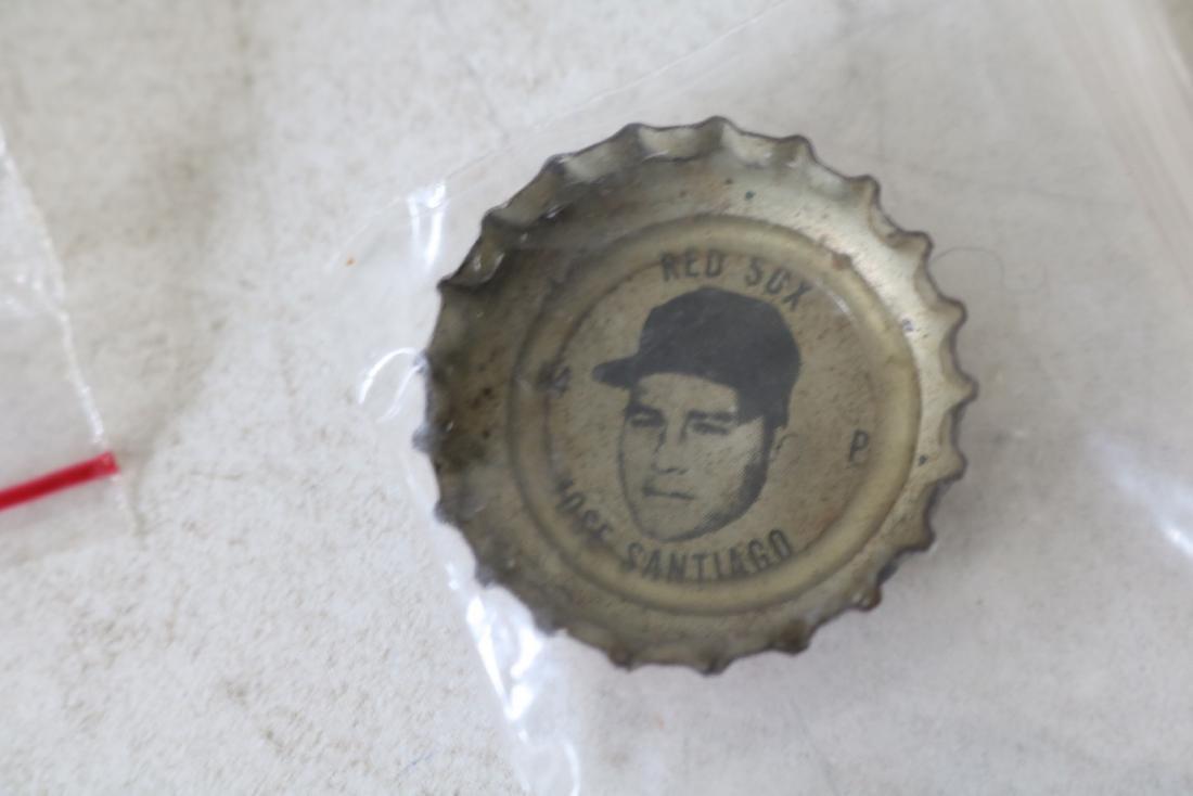 Vintage Coke Baseball Bottle Caps, Red Sox & All Star - 9