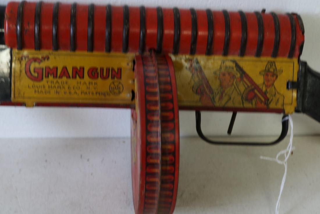 "Marx ""G"" Man Gun, Tin Toy - 2"