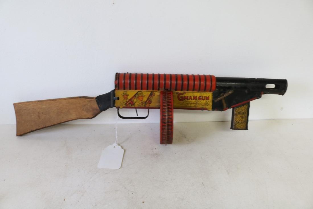 "Marx ""G"" Man Gun, Tin Toy - 5"