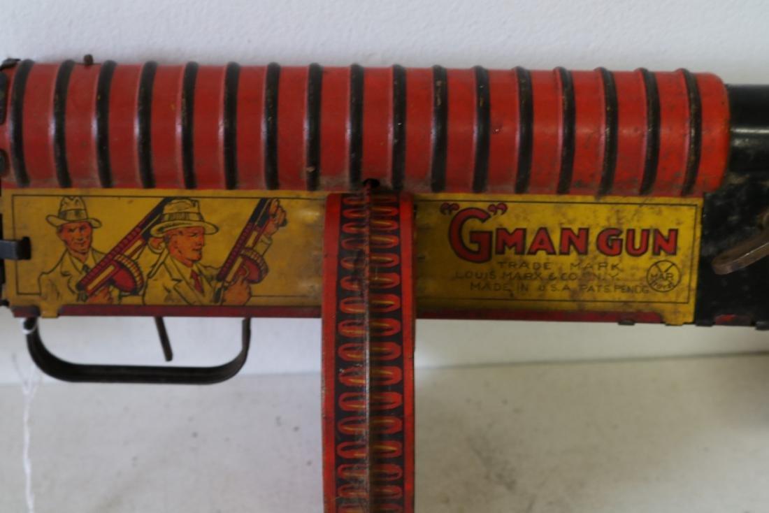 "Marx ""G"" Man Gun, Tin Toy - 6"