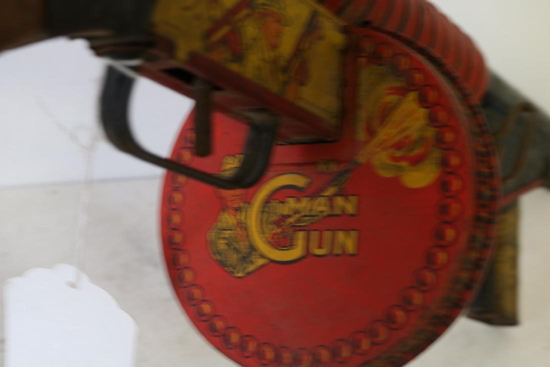 "Marx ""G"" Man Gun, Tin Toy - 7"