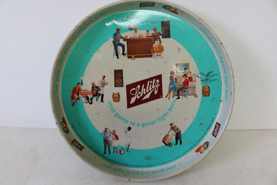 Vintage 1962 Schlitz Beer Tray
