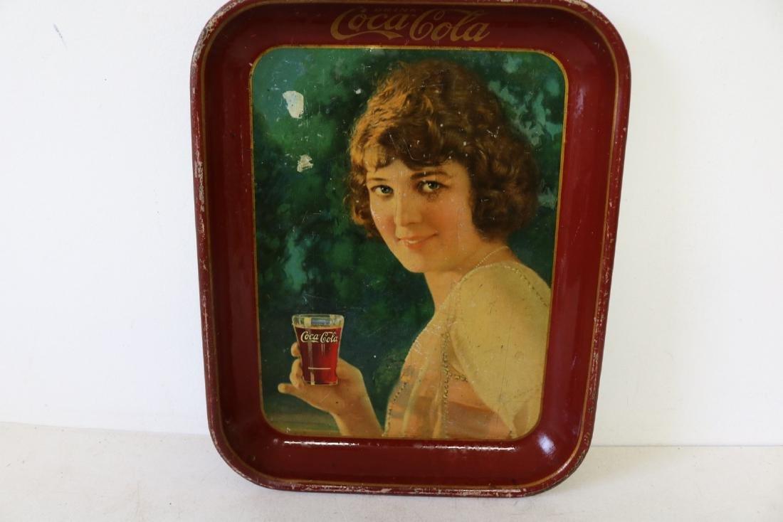 Original Coca-Cola Tray, Girl holding glass of - 2