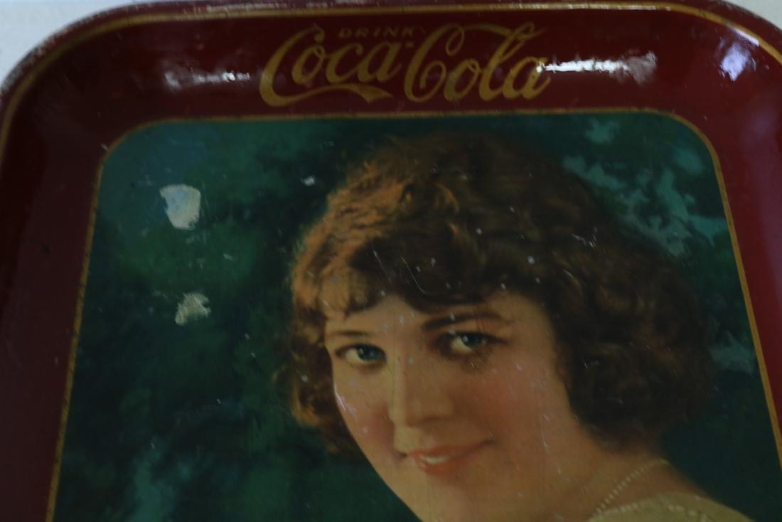 Original Coca-Cola Tray, Girl holding glass of - 3