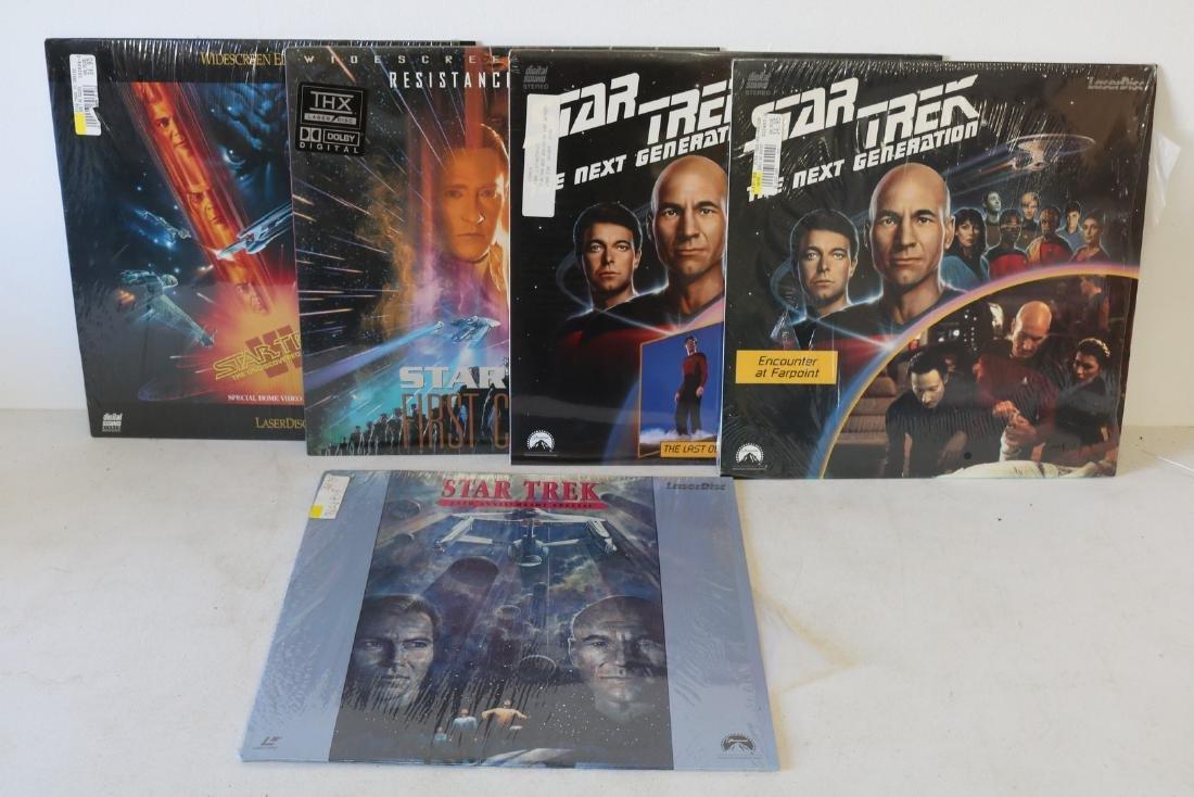 Lot of 5 Vintage Laser Disc Movies, Star Trek