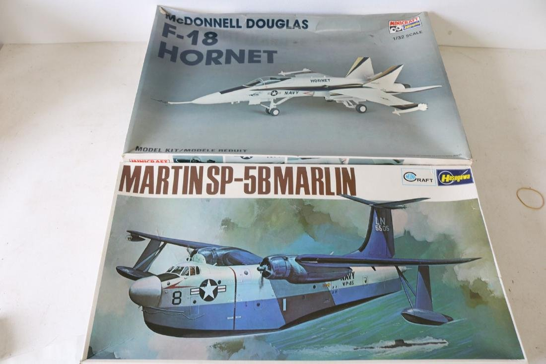Lot of 2 Model Military Airplanes