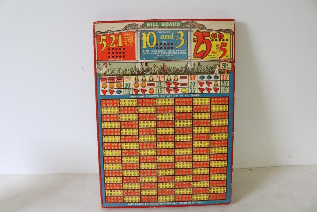 Vintage Bill Board Carnival Game