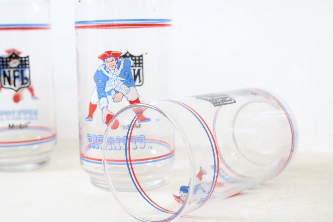 Lot of 6 Patriots Glasses - 5