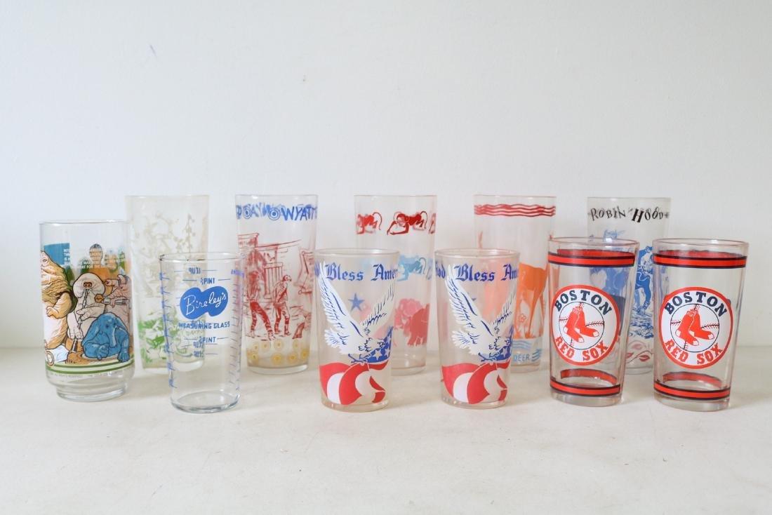 Lot of 11 glasses