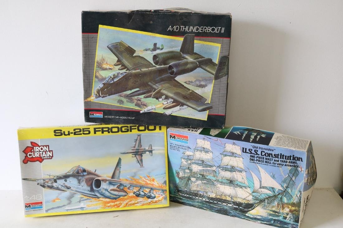 Lot of 3 Model Kits by Monogram