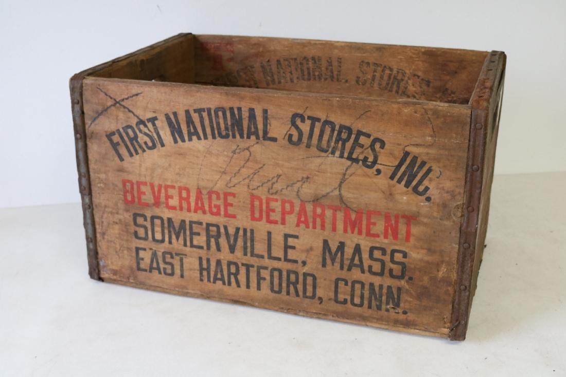 Vintage Wooden Crate, Millbrook Club Beverages