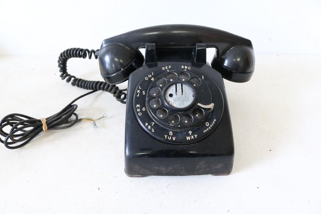Antique Black Rotary Phone by Bell Systems