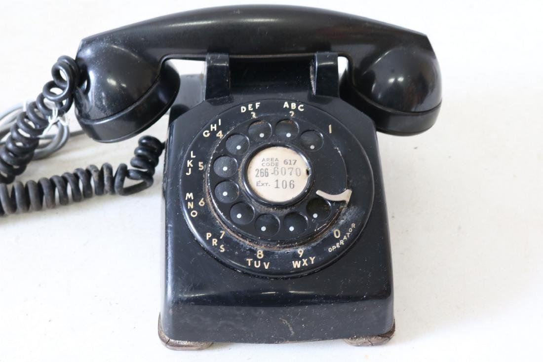 Antique Black Rotary Phone, by Bell Systems