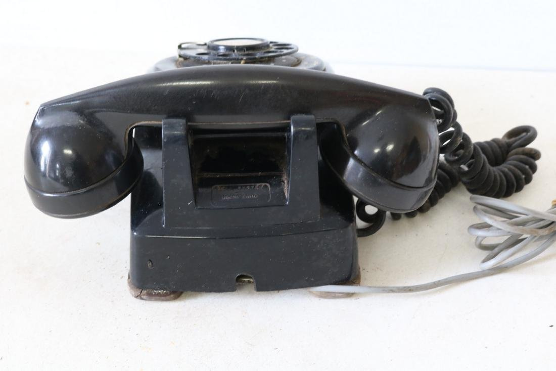 Antique Black Rotary Phone, by Bell Systems - 4