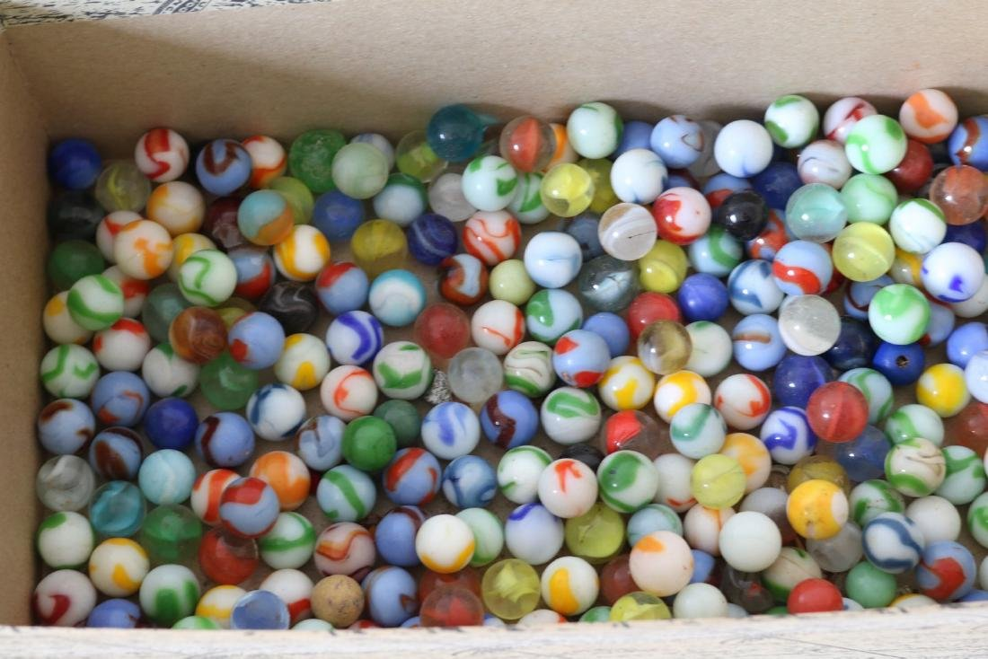 Box lot of vintage marbles - 2