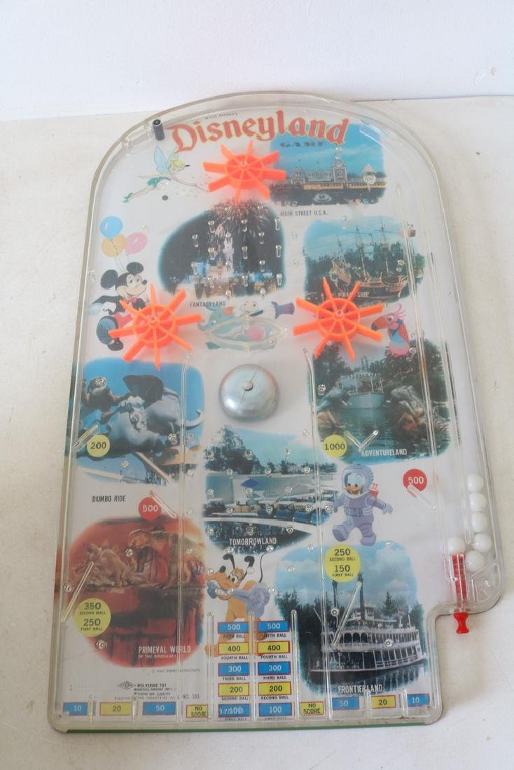 1960s Vintage Disneyland tabletop Pinball Game