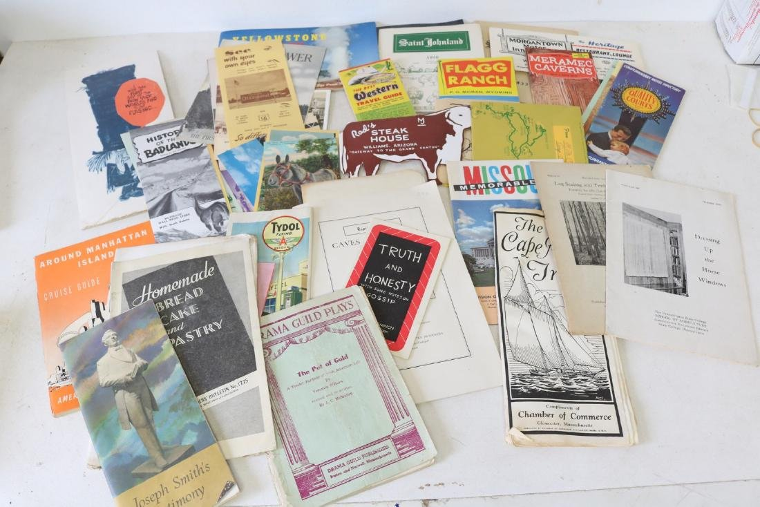 Paper Ephemera Travel and Recipe Lot